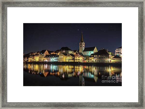 Dissenhofen On The Rhine River Framed Print