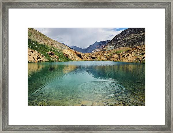 Framed Print featuring the photograph Distant Rains by Whitney Goodey