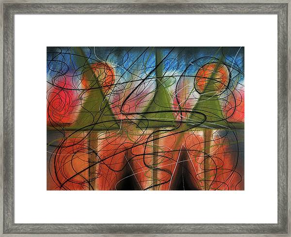 Disturbance At Lake Framed Print