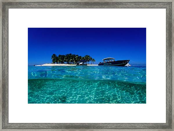 Dive Boats Off Island, South Water Framed Print