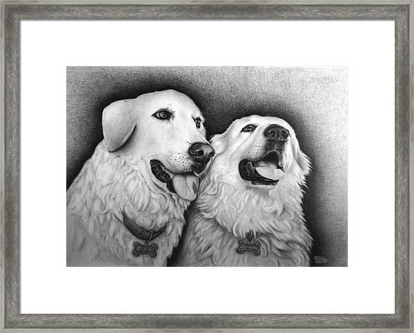 Dixie And Savannah Framed Print