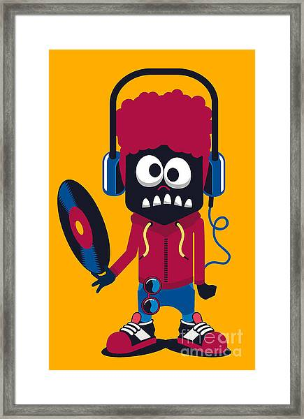 Dj Monster Vector Design Framed Print