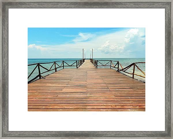 Dock To Infinity Framed Print