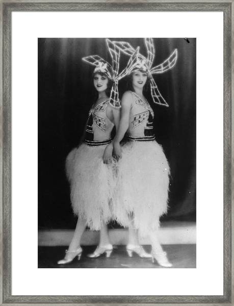Dolly Sisters Framed Print