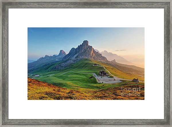 Dolomites Landscape Framed Print