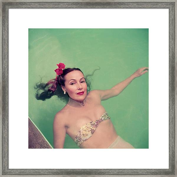 Dolores Del Rio Framed Print by Slim Aarons