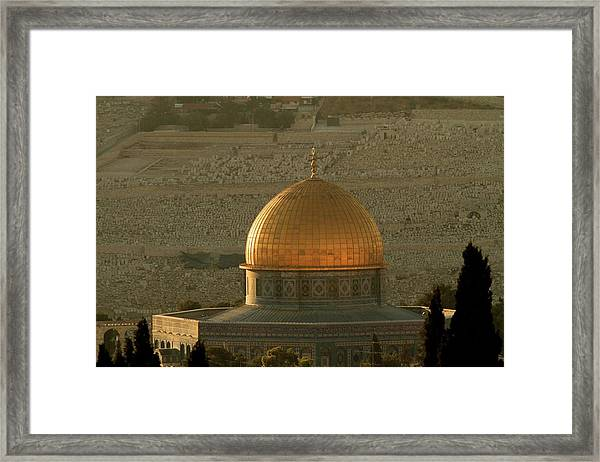 Dome Of The Rock Mosque In Jerusalem Framed Print by Picturejohn