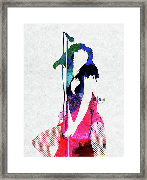 Donna Watercolor Framed Print