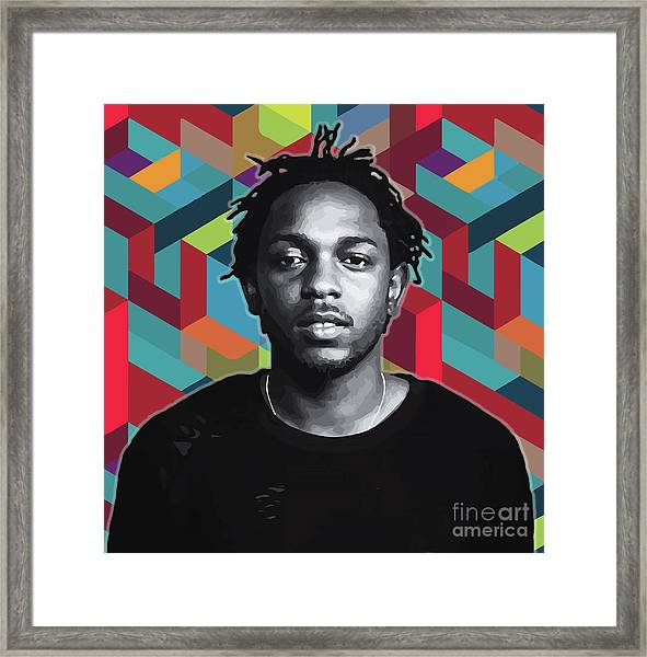 Framed Print featuring the painting Don't Kill My Vibe Kendrick by Carla B