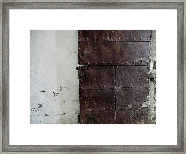 Door At Kristiansten Fortress In Trondheim, Norway Framed Print