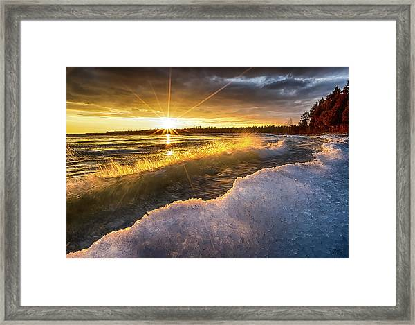 Door County Sunset Framed Print