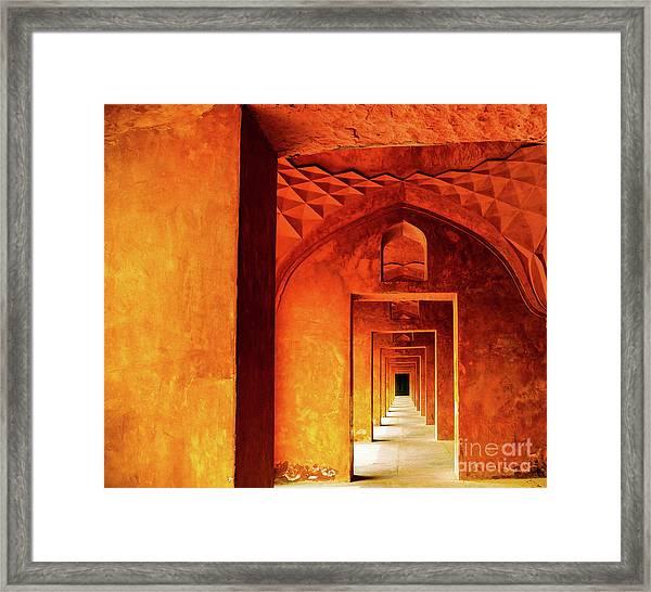 Doors Of India - Taj Mahal Framed Print