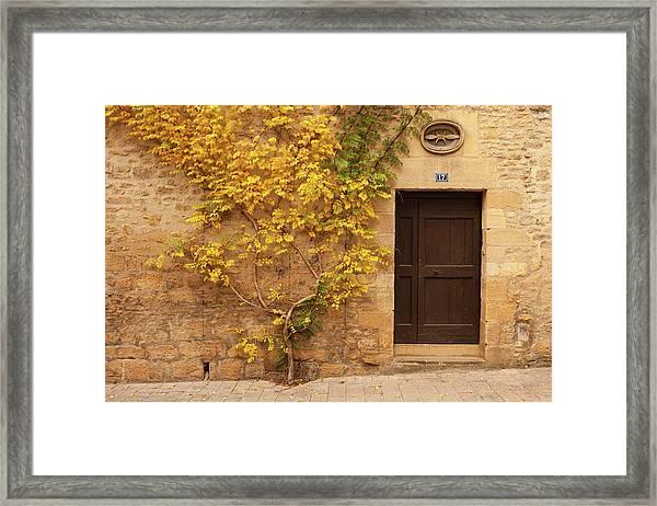Doorway, Sarlat, France Framed Print