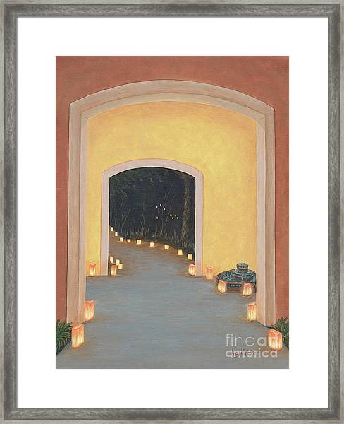 Doorway To The Festival Of Lights Framed Print