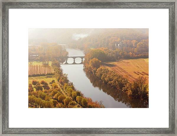 Dordogne River In The Mist Framed Print