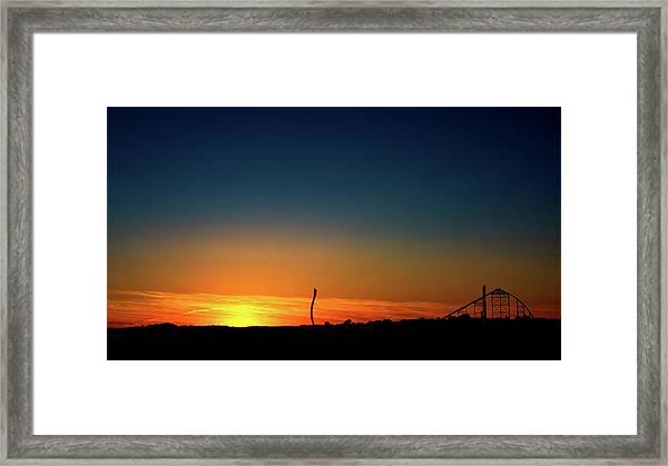 Dorney Park Sunset Framed Print