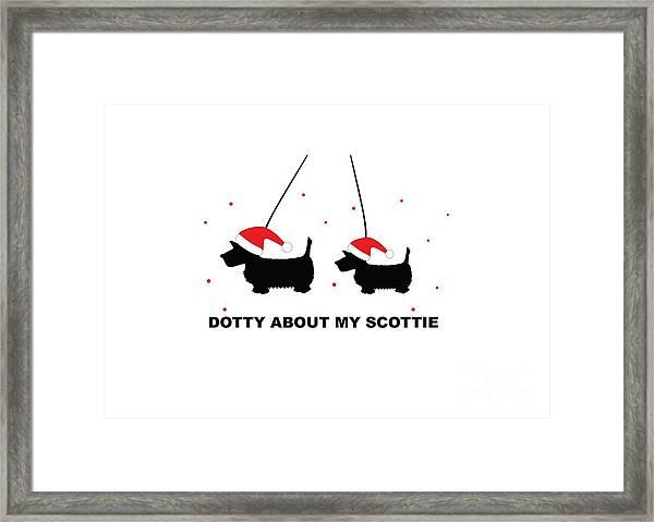 Dotty About My Scottie - Xmas Framed Print
