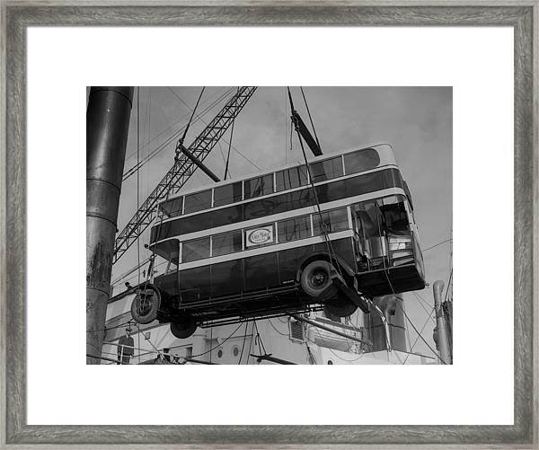 Double-deck Bus Framed Print