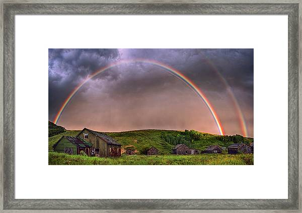 Double Rainbow Rebirth Framed Print