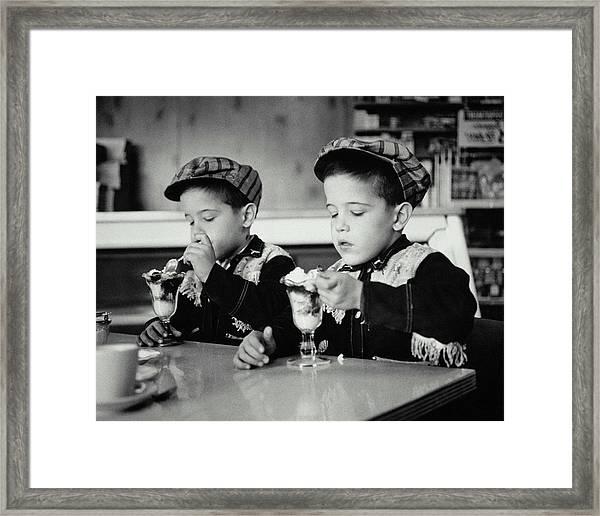 Double Sundae Framed Print