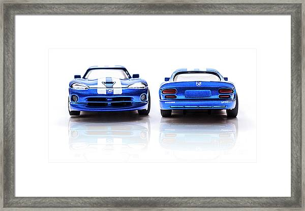 Double The Sting Framed Print