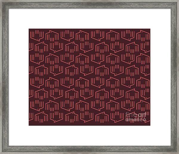 Doves Pattern C Framed Print