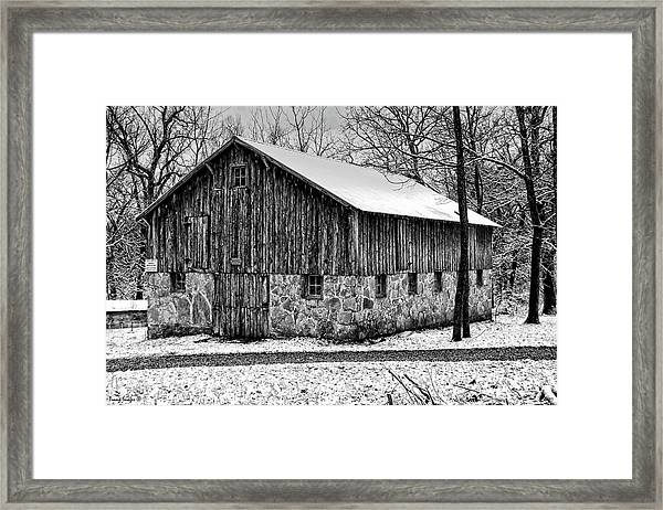 Down The Old Dirt Road Framed Print