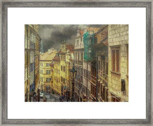 Downhill, Downtown, Prague Framed Print