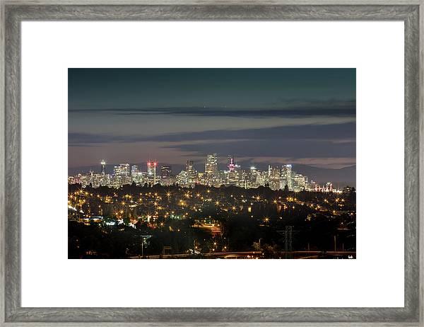 Downtown Dusk Framed Print