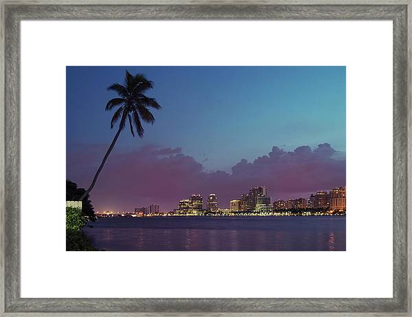 Downtown Lights, West Palm Beach Framed Print