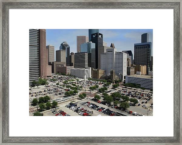 Downtown Parking Framed Print