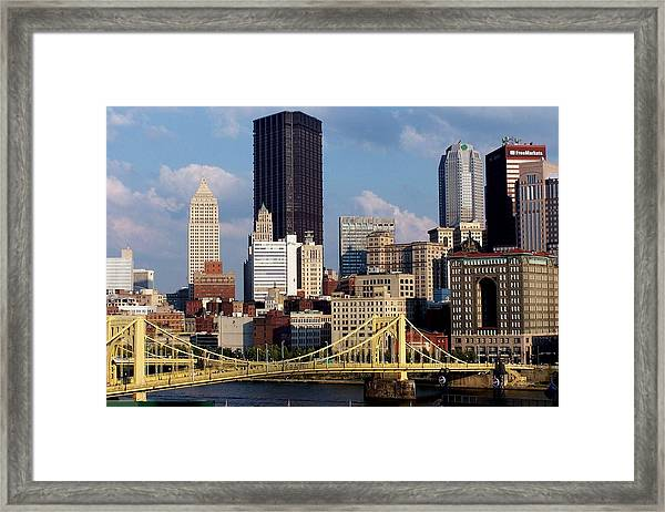 Downtown Pittsburgh Panorama From Pnc Framed Print