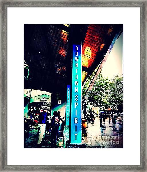 Downtown Spirit, Kentucky Soul Framed Print
