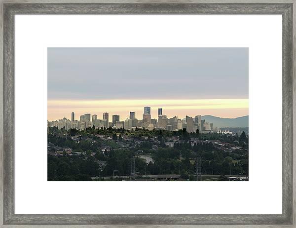 Downtown Sunset Framed Print