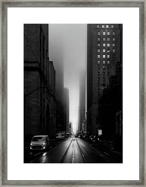 Downtown Toronto Fogfest No 26 Framed Print
