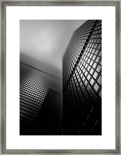 Downtown Toronto Fogfest No 27 Framed Print