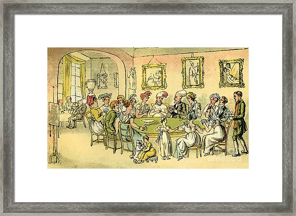 Dr Syntax At A Card Party Framed Print