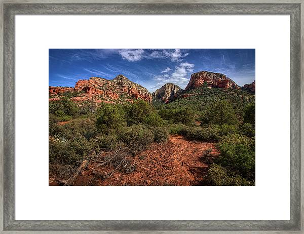 Dramatic Cloudscape Over Capitol Butte Framed Print