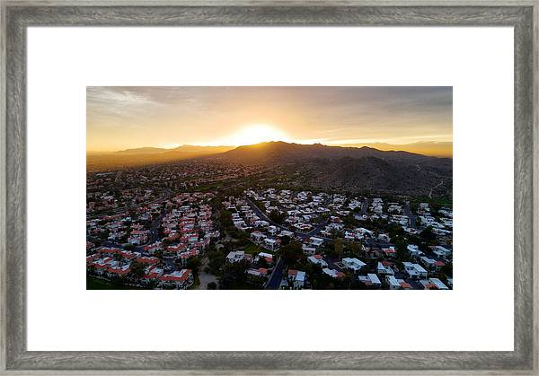 Dramatic South Mountain Sunset Framed Print