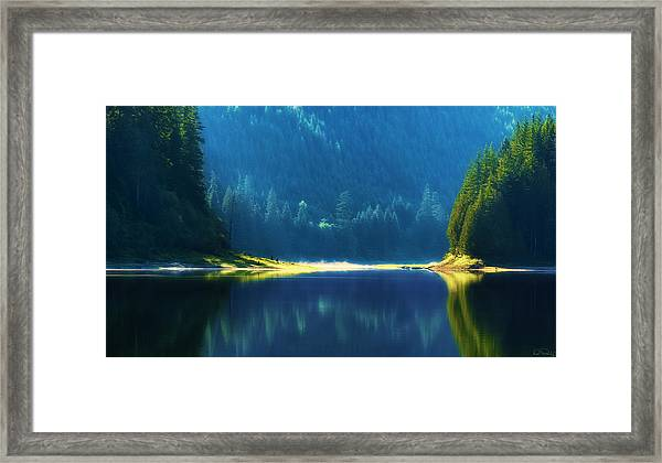 Framed Print featuring the photograph Dreamlike Focus Of Merrill Lake by Dee Browning