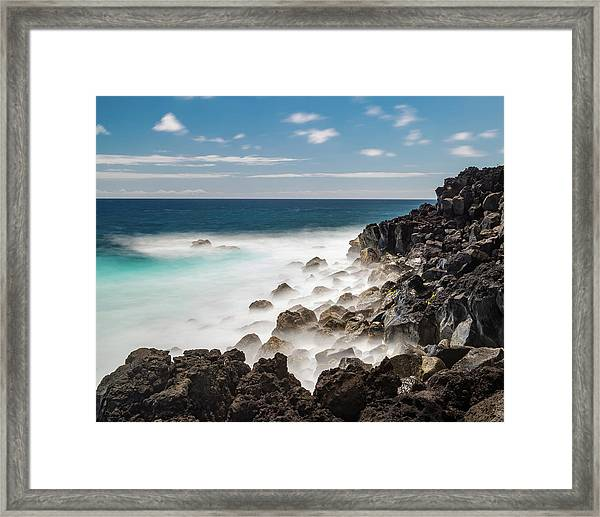 Framed Print featuring the photograph Dreamy Hawaiian Coastline by William Dickman