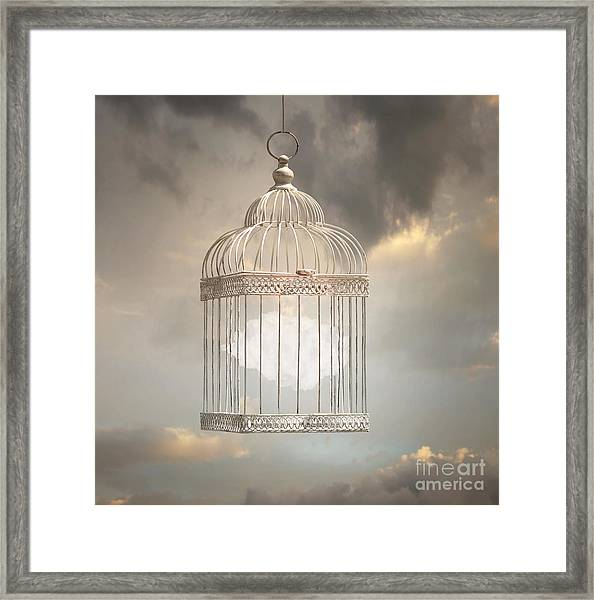 Dreamy Image That Represent A Cloud Framed Print
