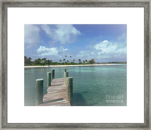 Dreamy View Beach Framed Print