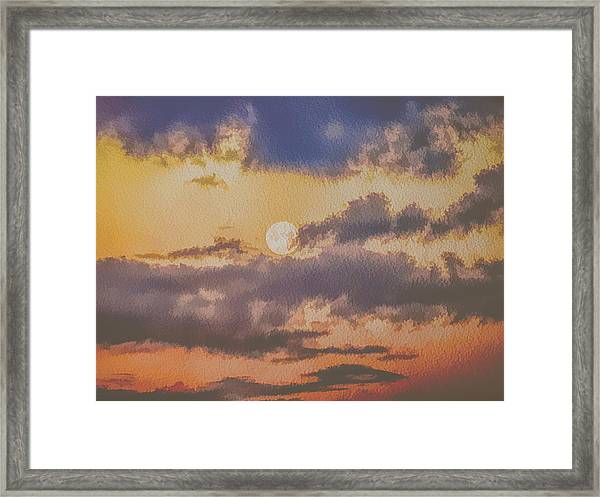 Dreamy Moon Framed Print