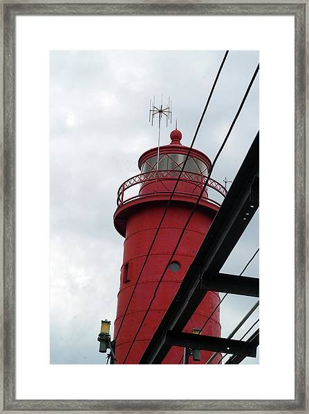Dressed In Red Framed Print