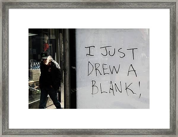 Drew A Blank  Framed Print