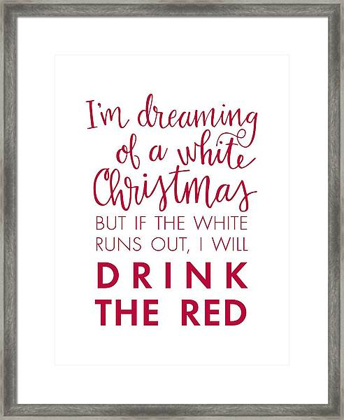 Drink The Red Framed Print