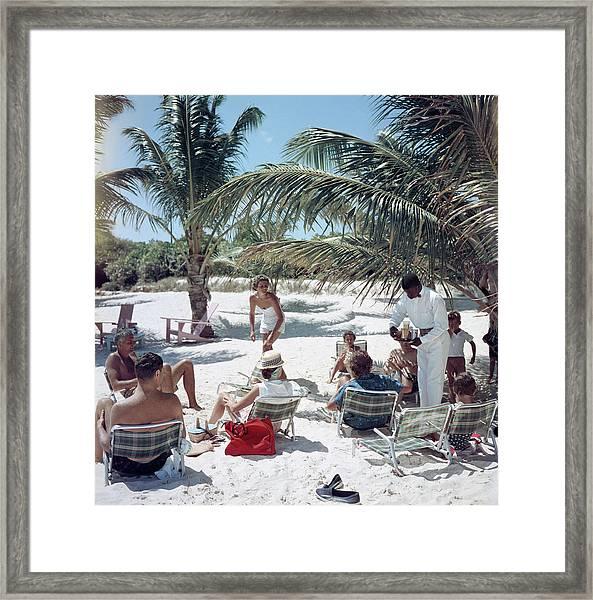 Drinks On The Beach Framed Print