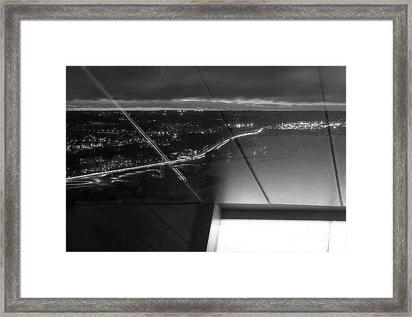 Driving At Night Framed Print by Tapio Koivula