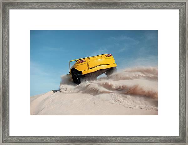 Driving On Sand, Jericoacoara, Brazil Framed Print